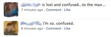 FB confused