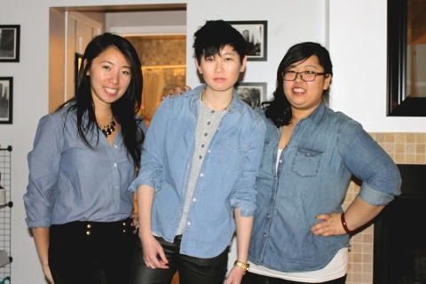 The chambray sisters.