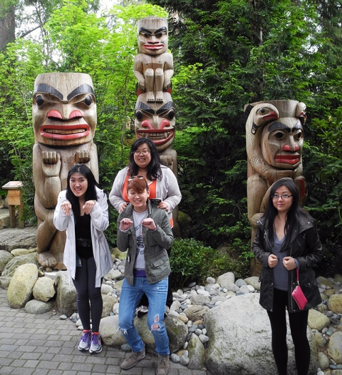 Things we are not talented at: imitating totem poles