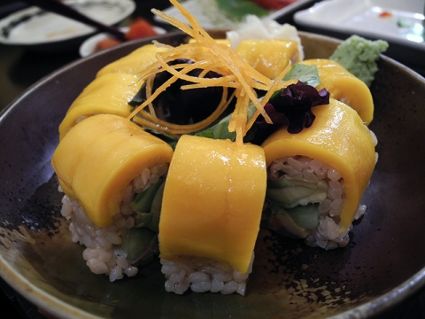 Mango avocado roll, yummm
