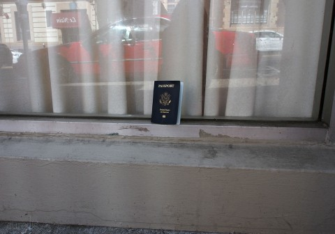 Random passport cover on the street