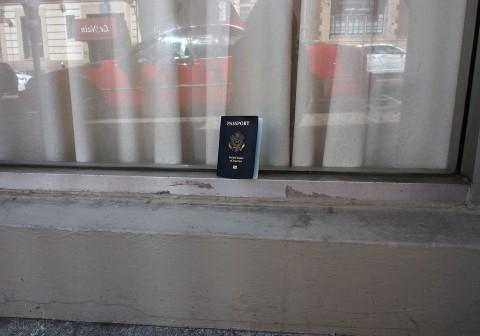 Random passport cover on the street