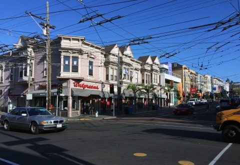 Overhead bus lines — so retro!